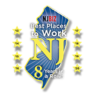 NJBiz Best Places to Work NJ - 8 Years in a Row!